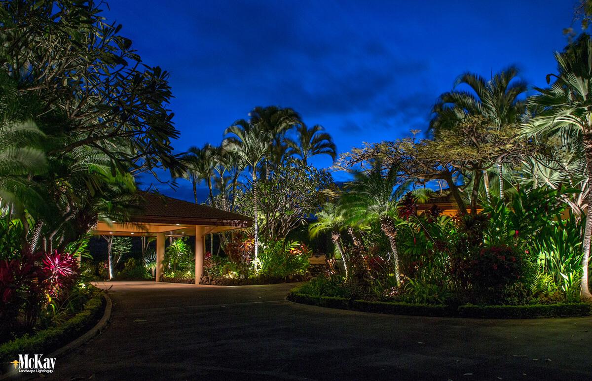 tropical outdoor lighting design