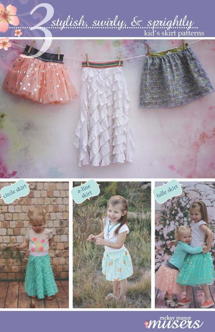 3 Kid's Skirts