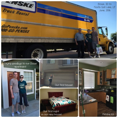 Collage of our move from Boise to North Salt Lake