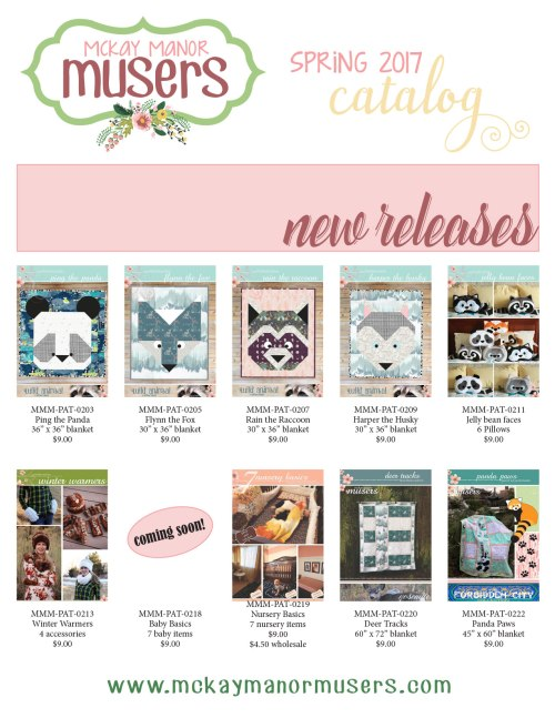 new patterns on our Spring Catalog