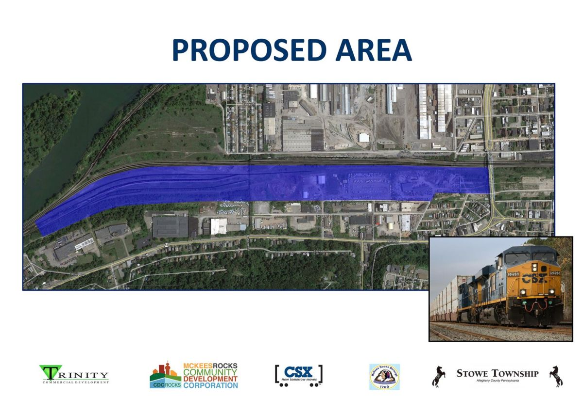 proposed area of the pittsburgh intermodal rail terminal