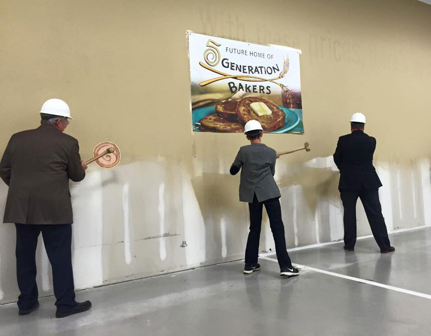 5 generation bakers groundbreaking