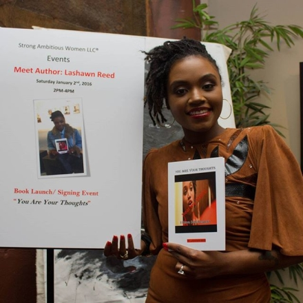"mckees rocks resident lashawn reed shows off her debut book, ""you are your thoughts."""