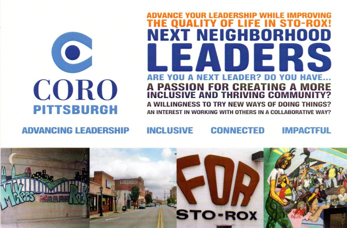 Coro Pittsburgh Next Neighborhood Leaders postcard.