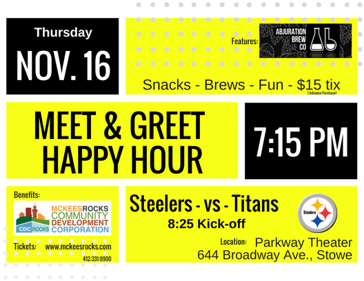 Meet & Greet Happy Hour Ad