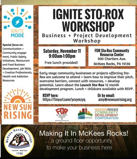 Ignite Sto-Rox Business Incubator Flyer