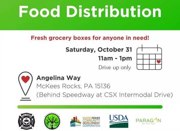 Drive-up food distribution set for Halloween, volunteers needed