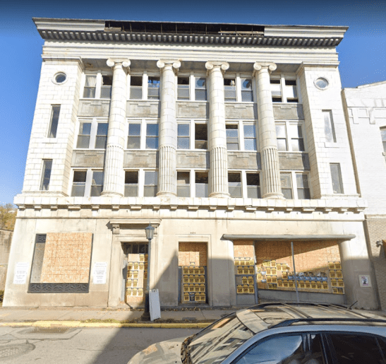 The former bank building at 602 Chartiers Avenue in McKees Rocks.