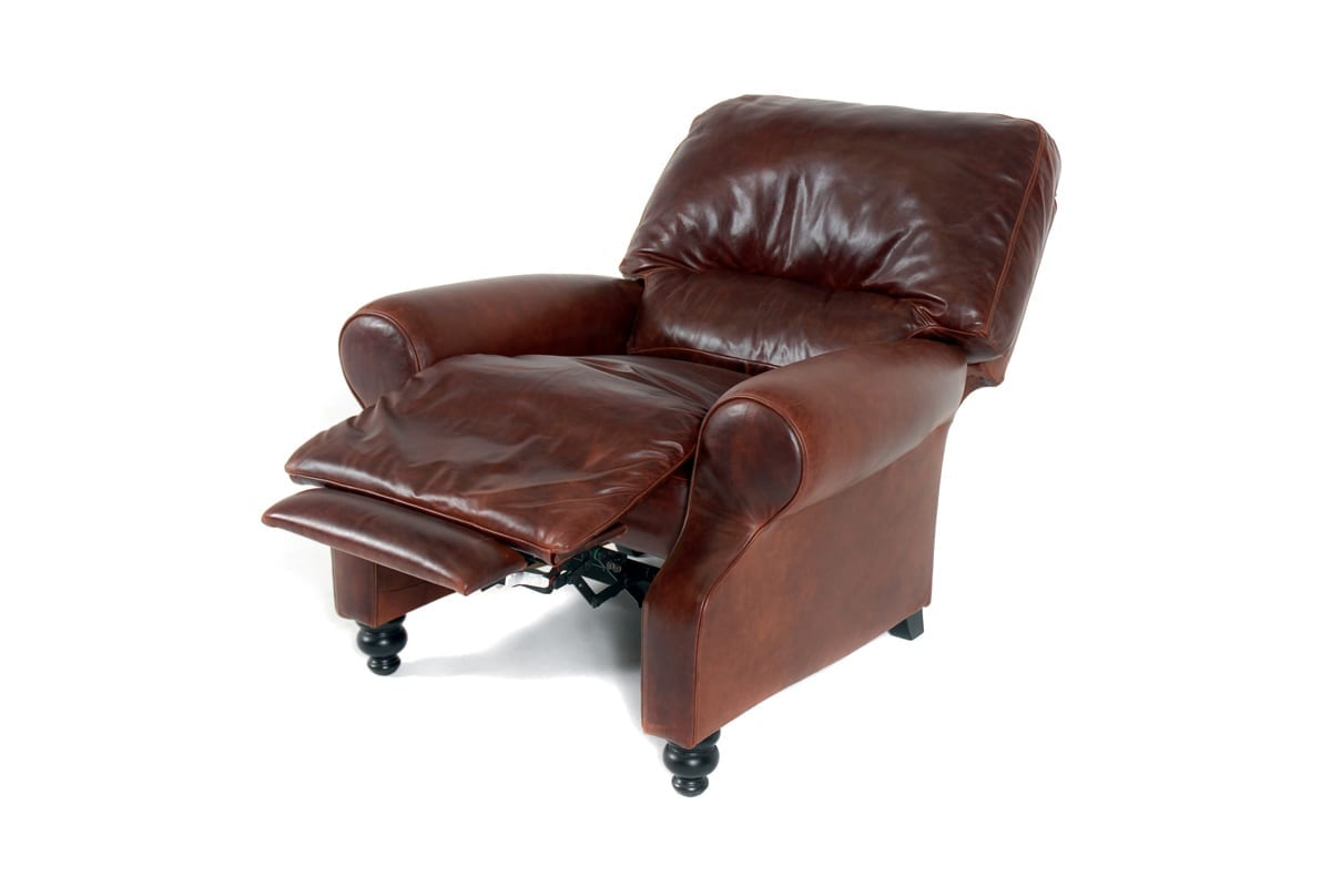 kensington leather chair black ladder back chairs  kovacs recliner mckenzie and willis
