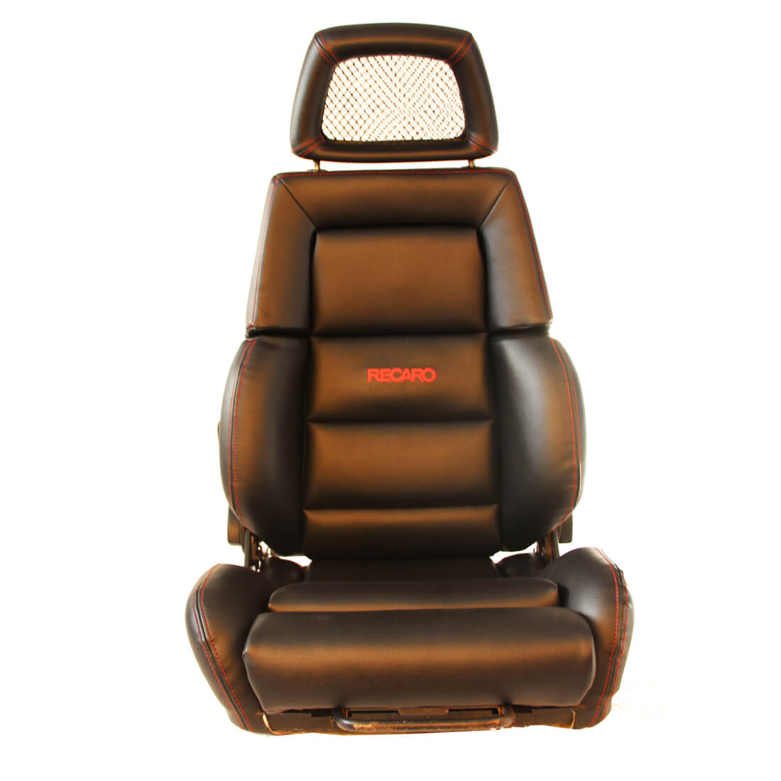 hight resolution of 1 used jdm recaro classic black synthetic leather seats net headrest sport