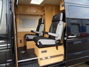 4 berth twin wheel sprinter interior