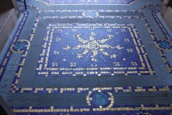 The Roman Pool mosaic tiles