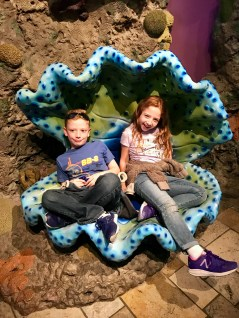 Kiddos in the giant clam