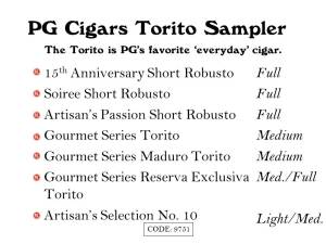 PG Sampler Torito