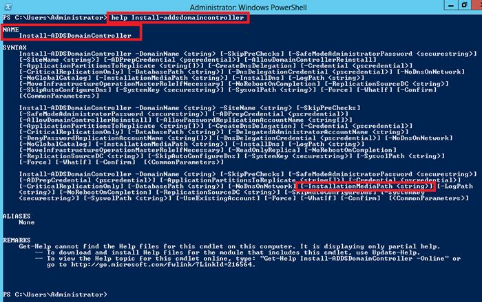 Installing Active Directory with Powershell