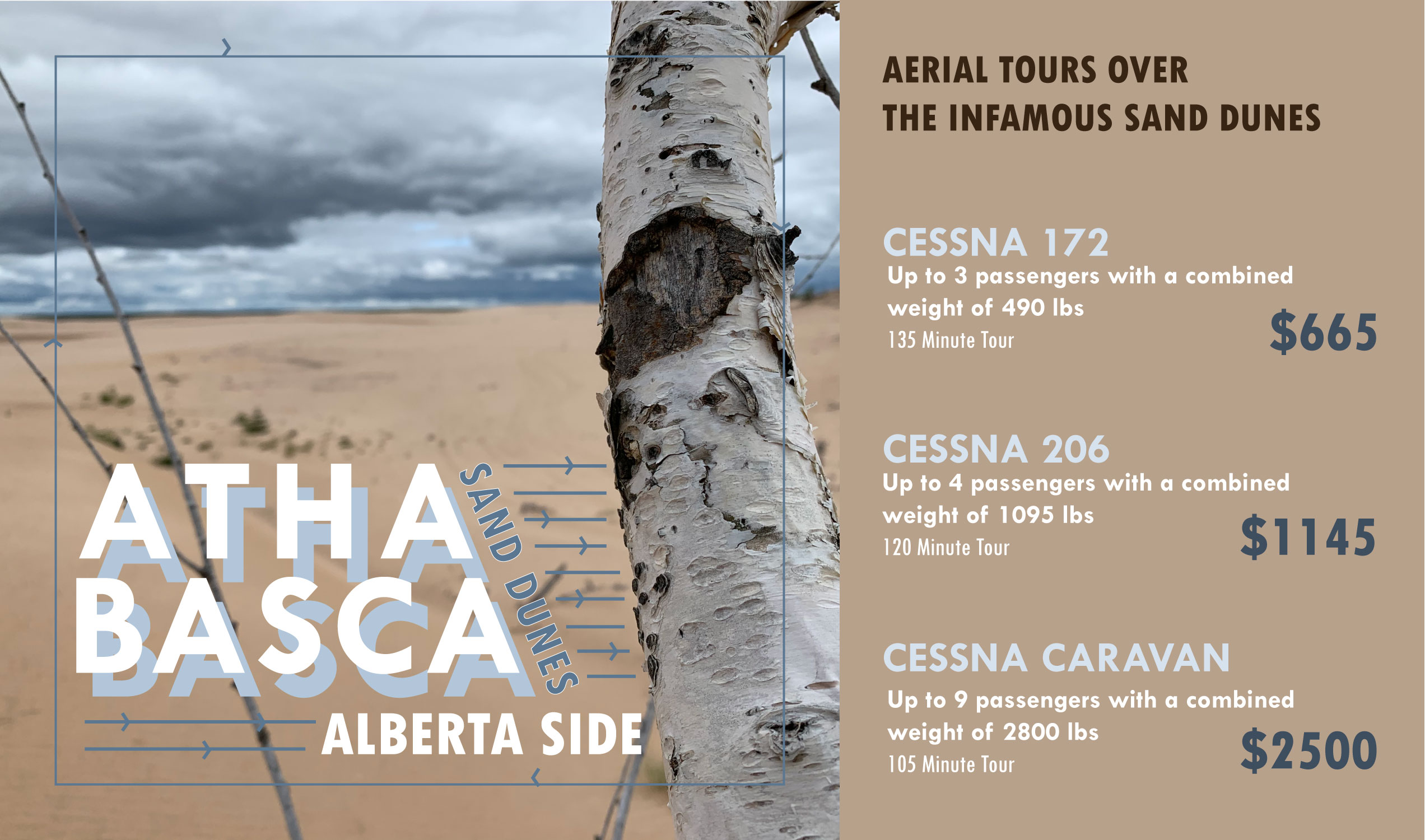 Athabasca Sand Dunes Aerial Tour prices