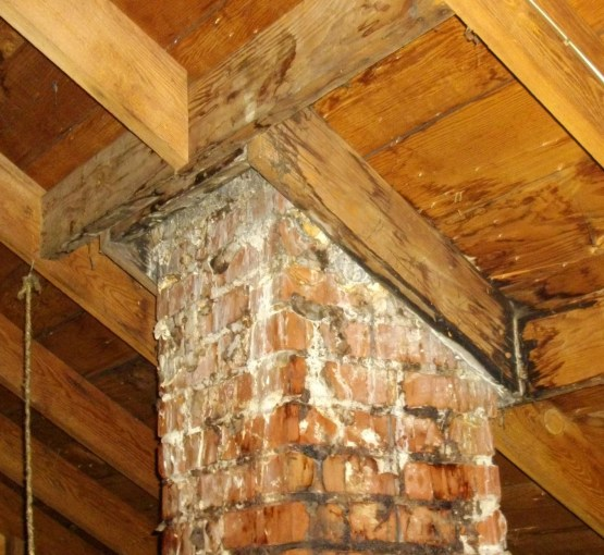 Chimney leaks are often intermittent leaks