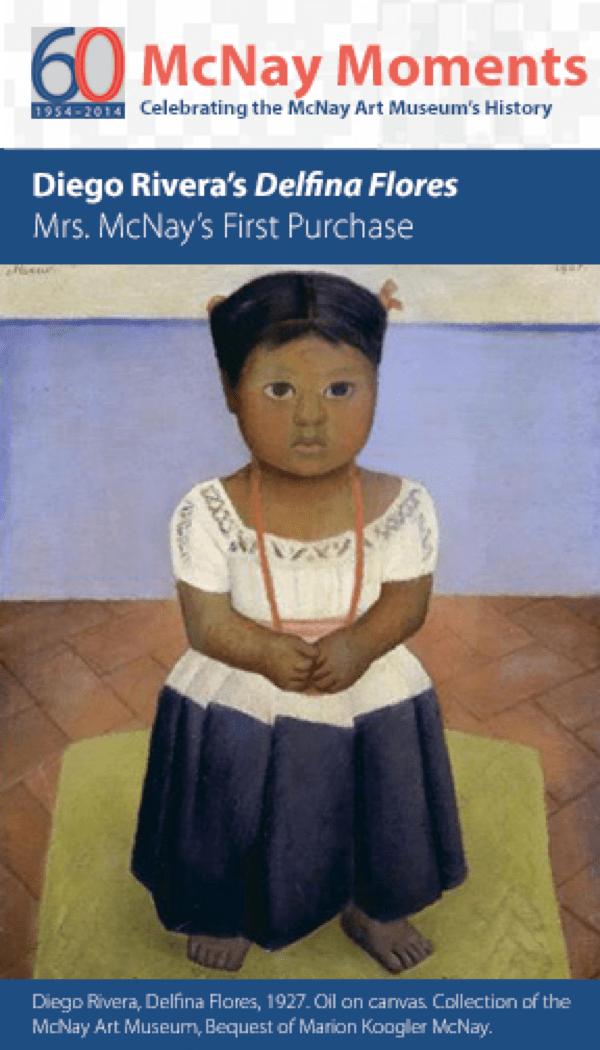 Mcnay Moments Diego Rivera S Delfina Flores Mcnay Art