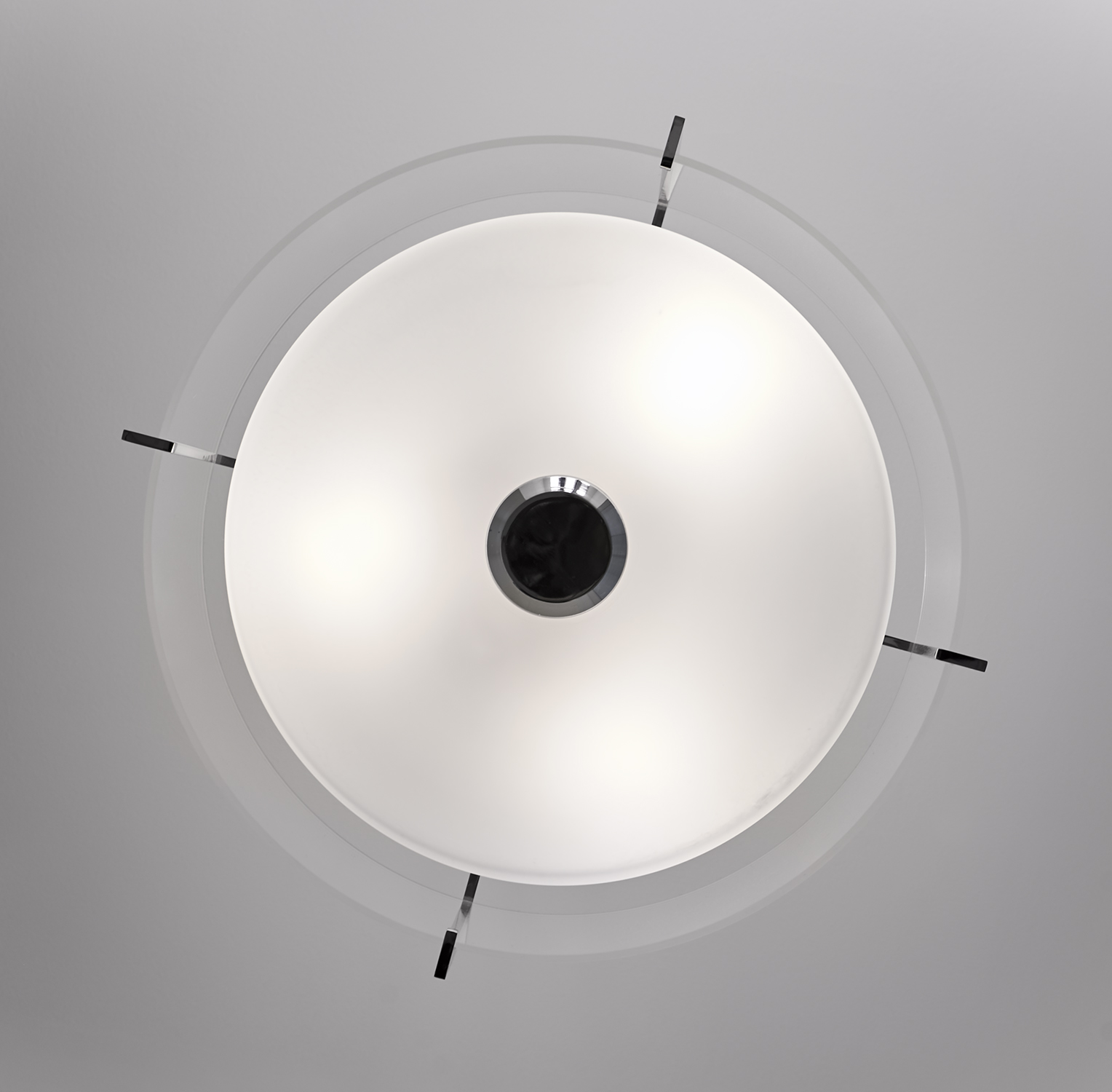 Classic Blue-Grey Bathroom Ceiling Light Fixture details
