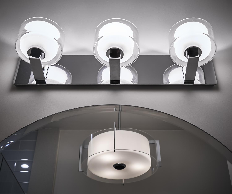 Classic Blue-Grey Bathroom Lighting duo