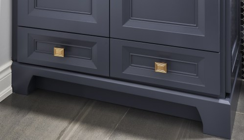 Indigo custom Vanity of Doors and Drawers.  Our signiture quality Cabinetry with fine detailing.