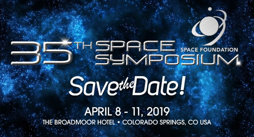 Space Symposium Save the Date 2019