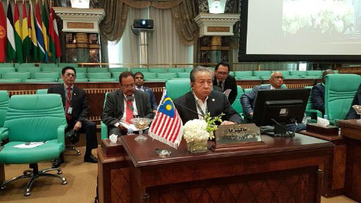 SAUDI ARABIA 17 NOVEMBER 2016. Minister of Foreign Affairs Datuk Sri Anifah Aman at the Coucial of Forign Ministers Emergency Session 17 November 2016 Makkah, Saudi Arabia.