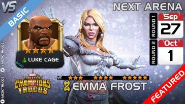 Emma Frost Featured in Arena Along with Luke Cage