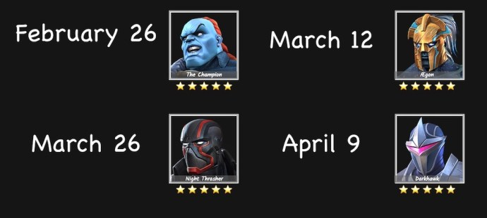 upcoming heroes