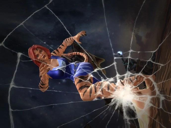 Tigra Breaks Glass