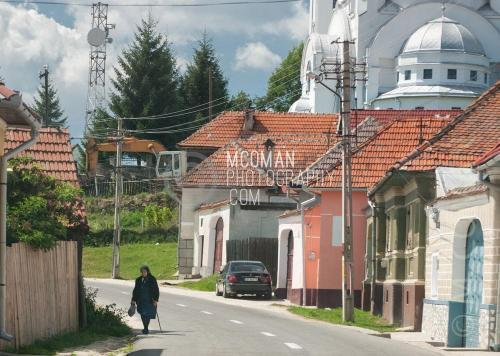 Rural Romanian Village with Orthodox Church