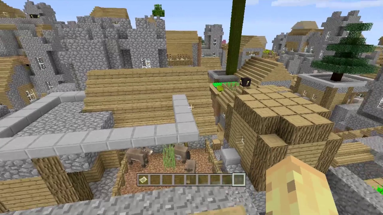 Minecraft PS3 1000 Villages Amplified Custom Village Mod