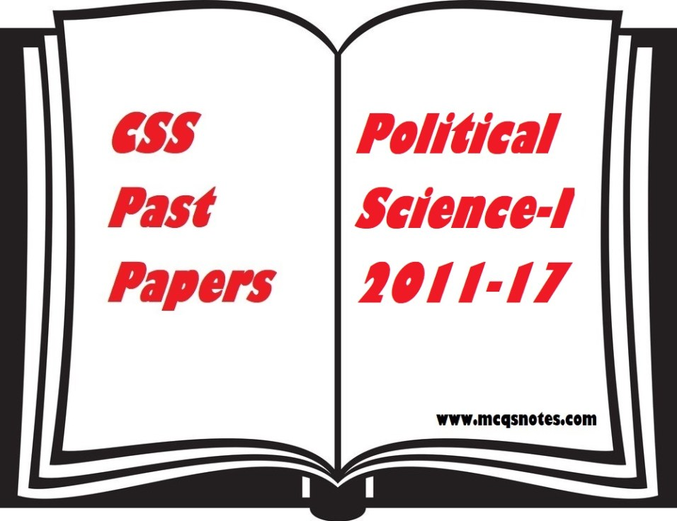CSS Political Science-I Past Paper PDF
