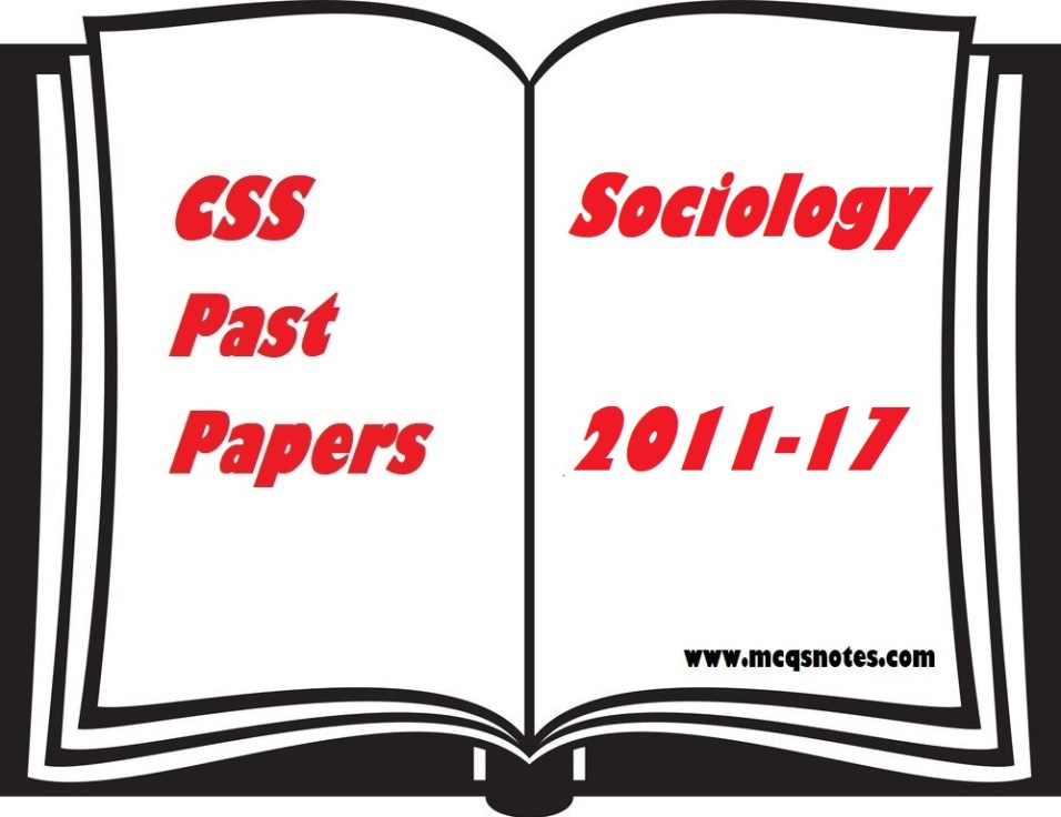 CSS Sociology Past Paper