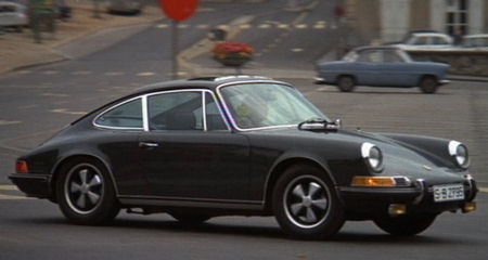 1969 Porsche 911S Coupe  In a scene from 'Le Mans'
