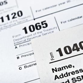 U.S. Income Tax Return forms 1040,1065,1120
