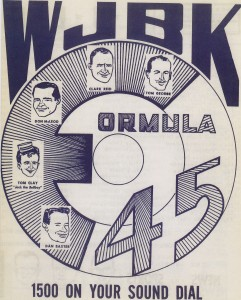 WJBK Radio 1500 Survey logo from 1958.