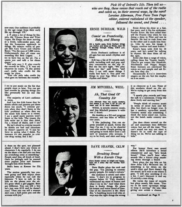SUNDAY DETROIT FREE PRESS MAGAZINE May 15, 1966 (click on image 2x for detailed view)