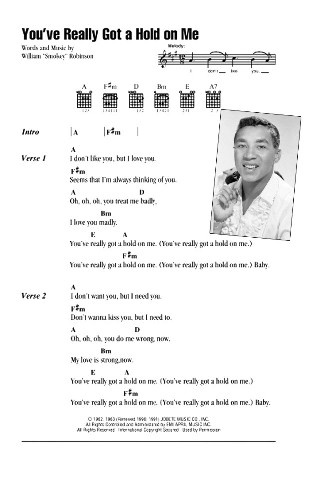 Smokey Robinson - You Really Got A Hold On Me (Chords)