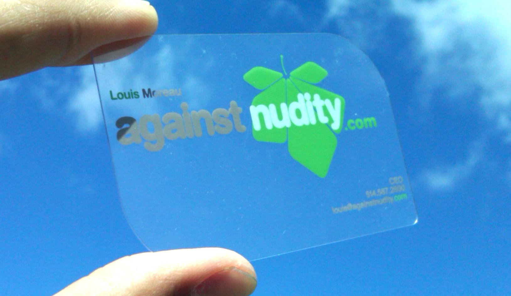 custom die cut business card