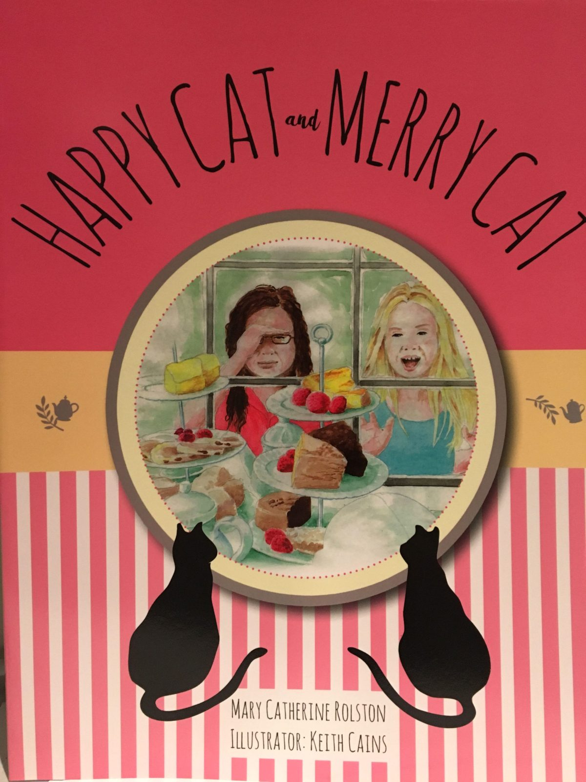 "The cover for the children's story ""Happy Cat and Merry Cat"""