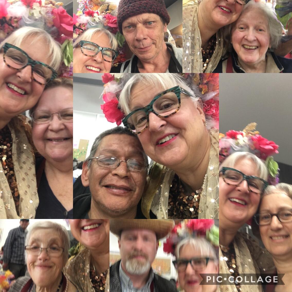 A collage of photos of MC