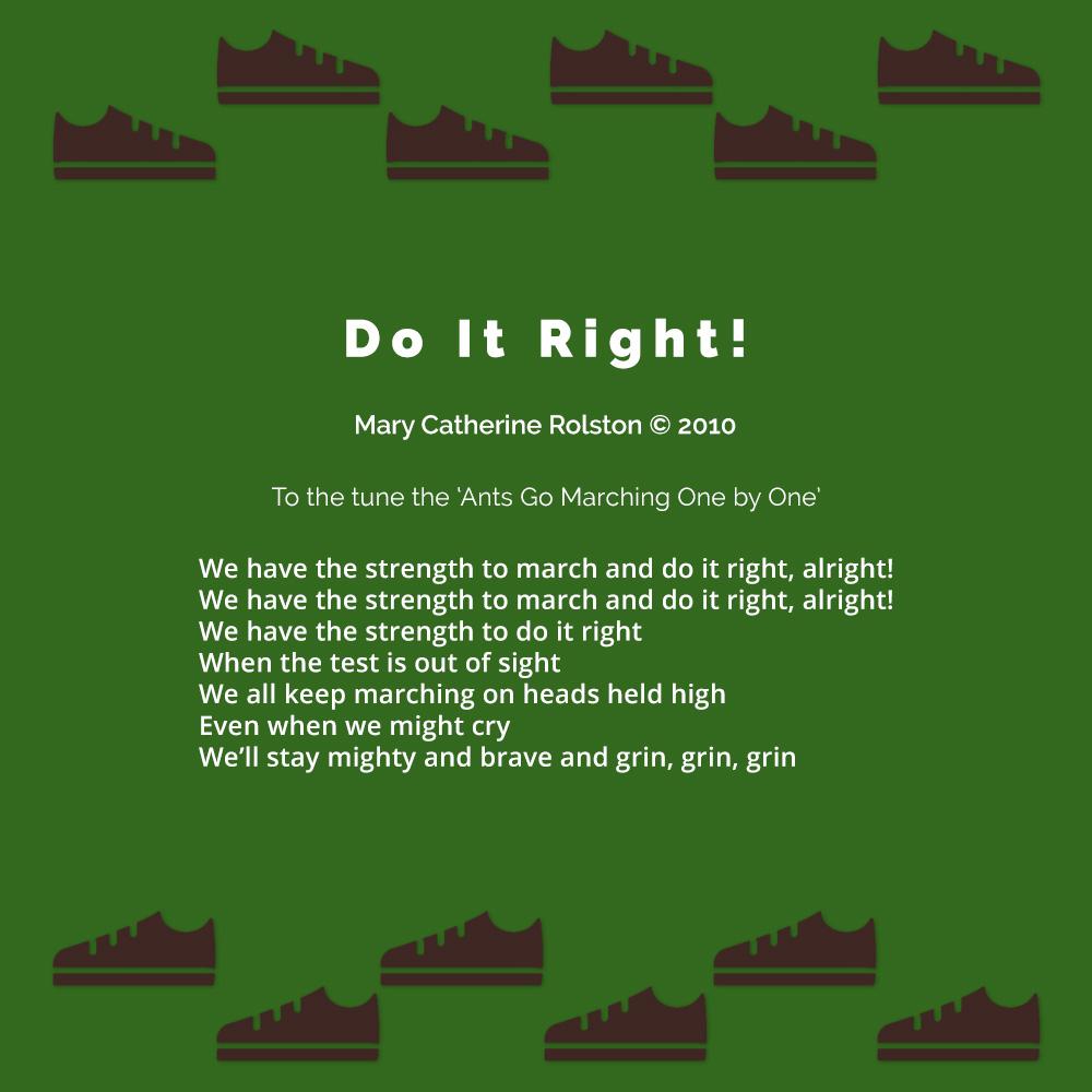 Do it Right Poem