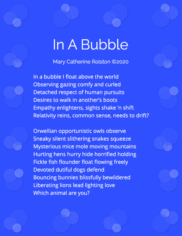 In A Bubble Poem
