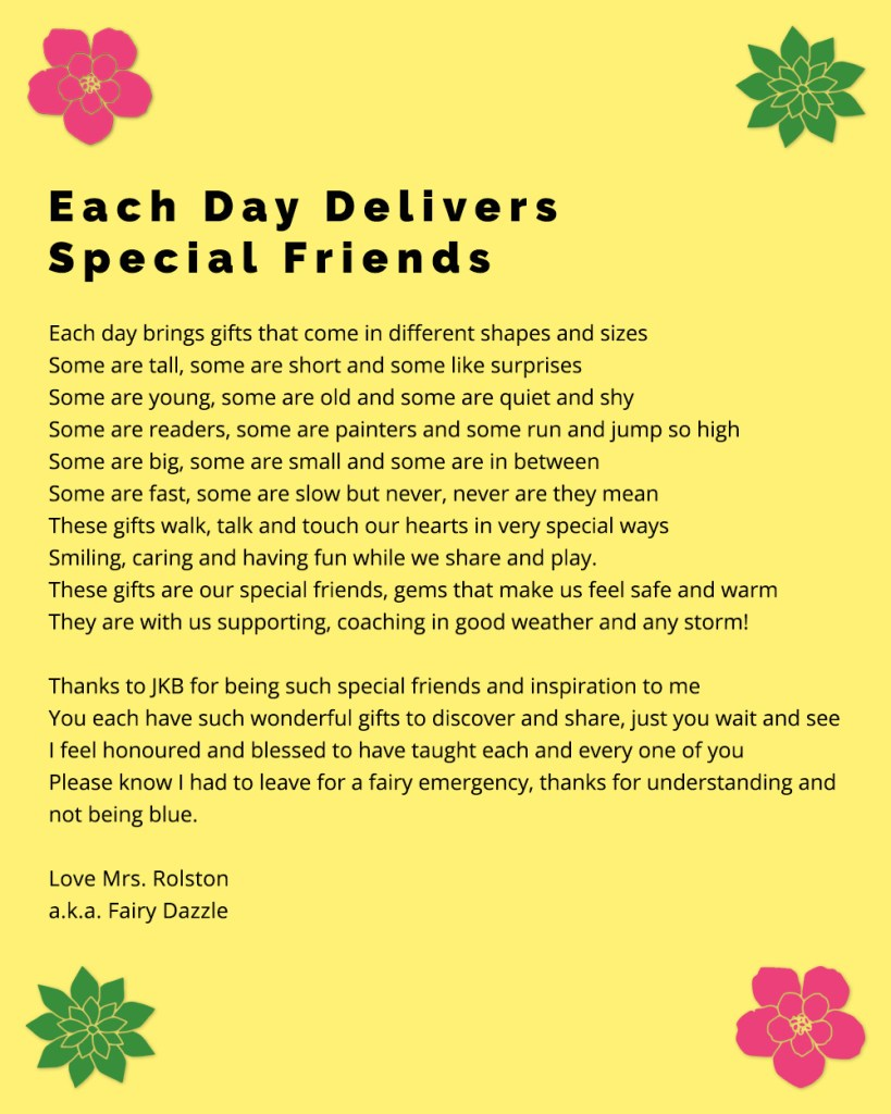 Special Friends Poem