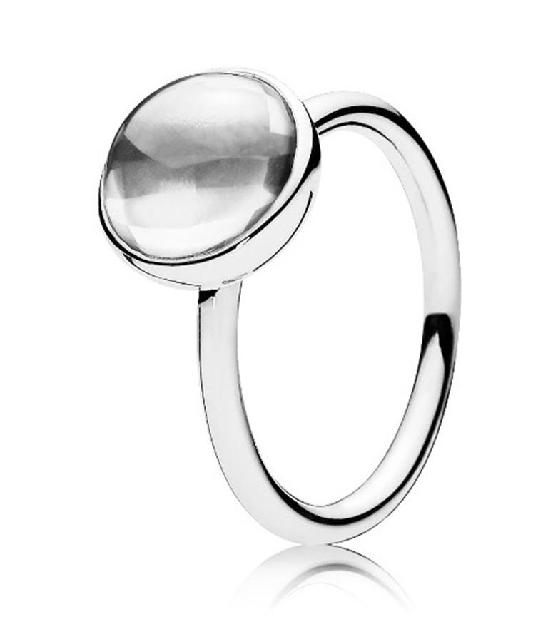 Pandora Ring Malerisches Trpfchen Silber 925  Online