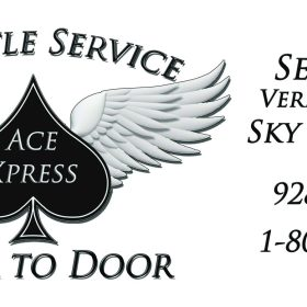 Graphic Design for Ace xpress Window signage