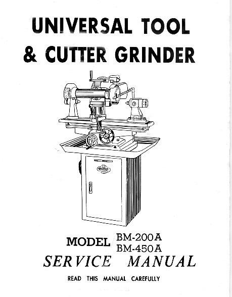 ENCO Models BM200 & BM450A Universal Cutter Grinder