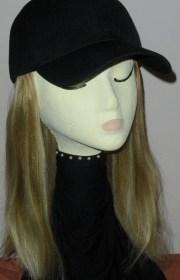 baseball cap with hair adult straight