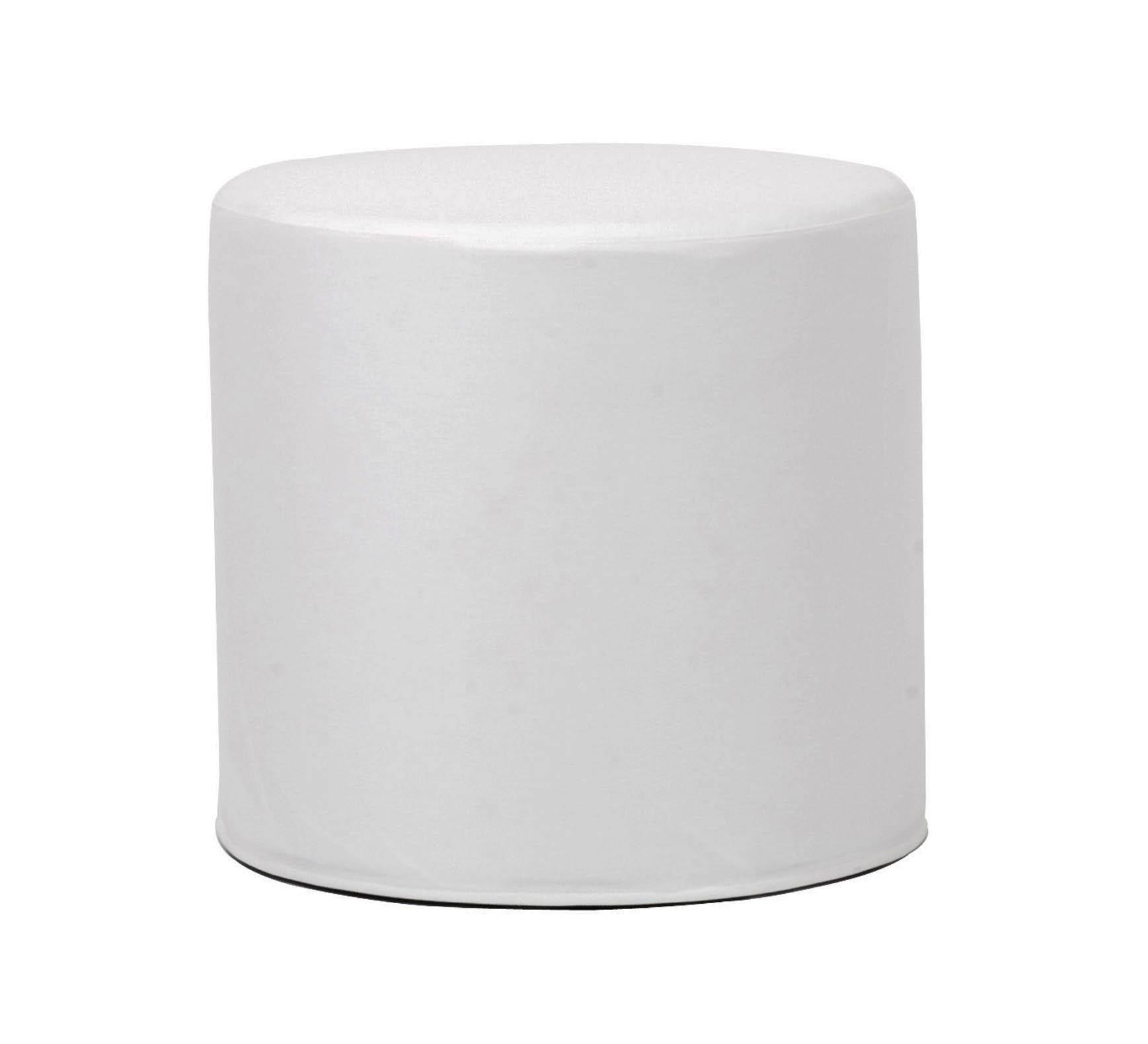 Lounge Cylinder Table Short Atlantis White Vinyl
